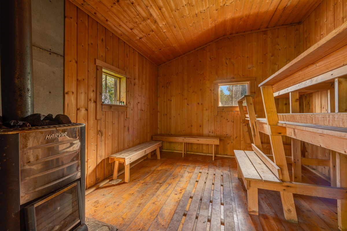 Try out the Sauna - it's included in the price of your room ...